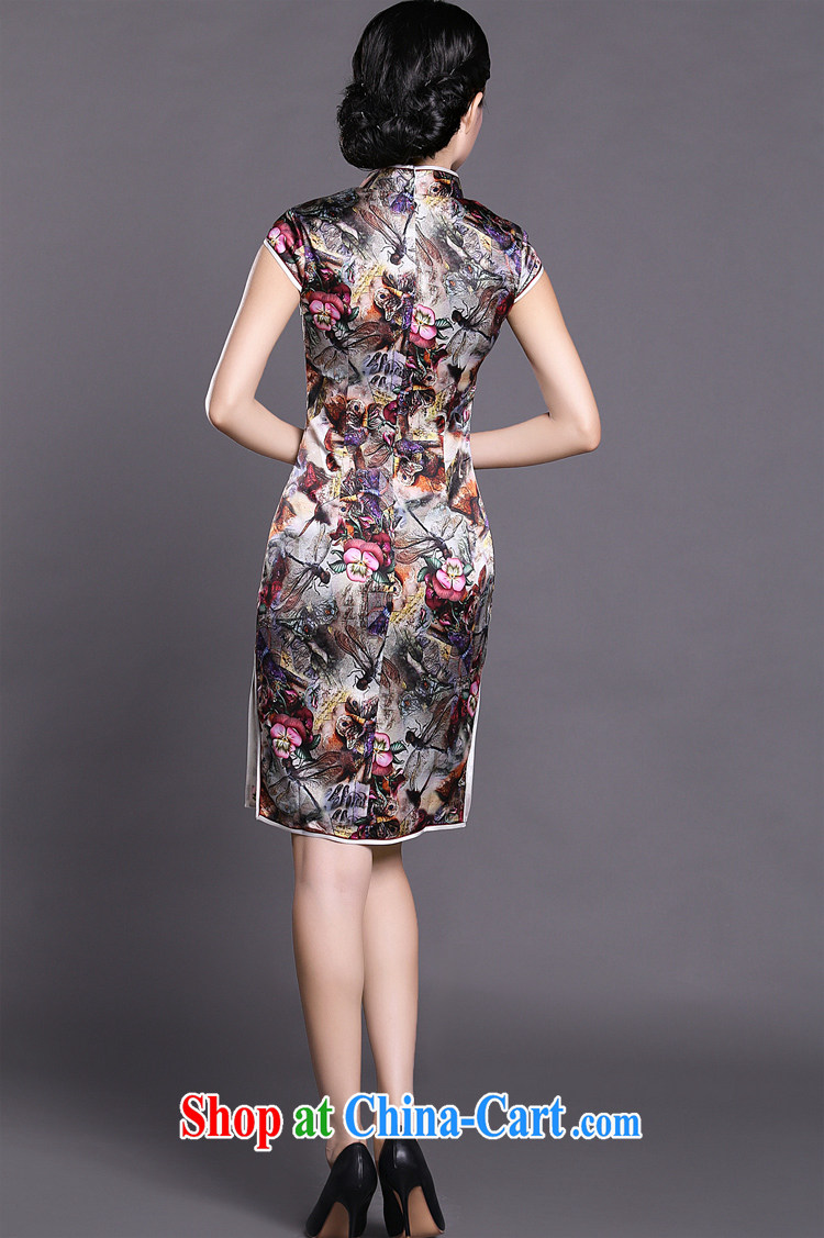 Joe is still name-yuan National wind cheongsam dress silk daily improvement summer Ms. ZS 011 fancy XXL pictures, price, brand platters! Elections are good character, the national distribution, so why buy now enjoy more preferential! Health