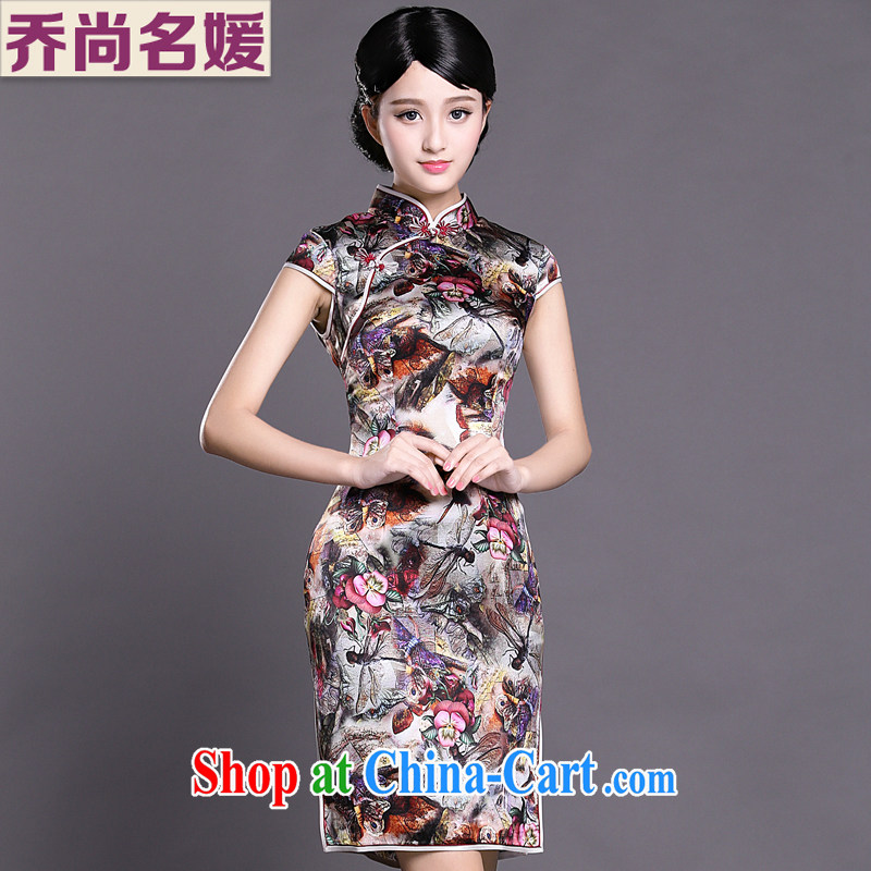 Joe is still name-yuan National wind cheongsam dress silk daily improvement summer Ms. ZS 011 fancy XXL