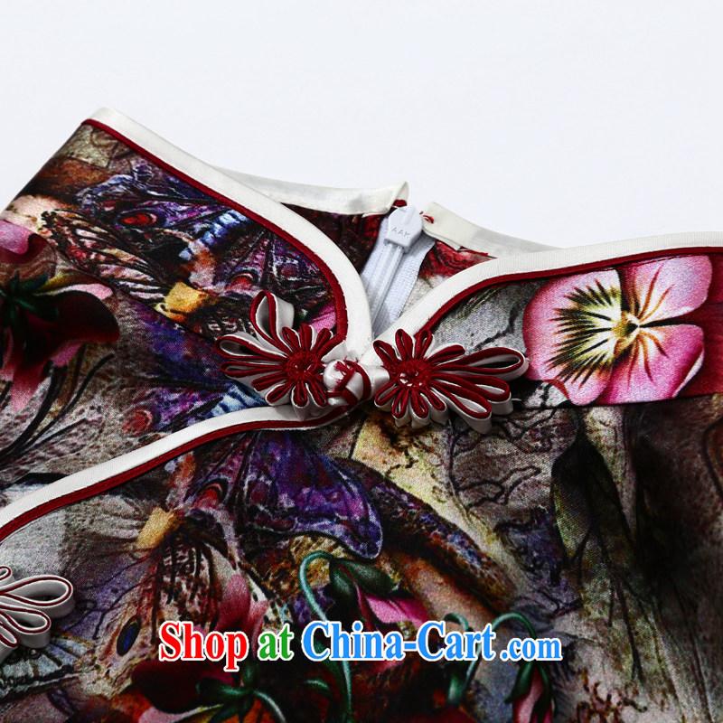 Joe is still name-yuan National wind cheongsam dress silk daily improvement summer Ms. ZS 011 XXL suit, CHOSHAN LADIES, shopping on the Internet