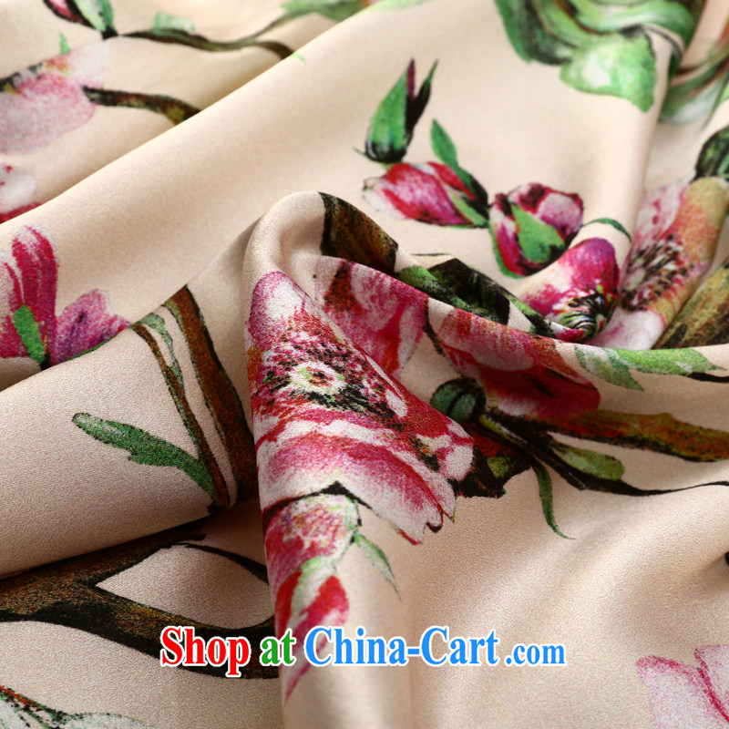 Joe is a Korea won cheongsam dress silk, summer Chinese Dress ZS 015 XXL suit, CHOSHAN LADIES, shopping on the Internet