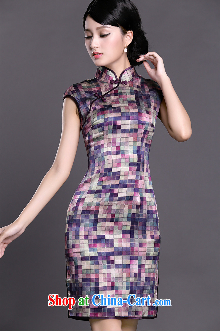 Joe is still name-yuan silk improved cheongsam dress summer aura China wind ZS 021 purple XXL pictures, price, brand platters! Elections are good character, the national distribution, so why buy now enjoy more preferential! Health