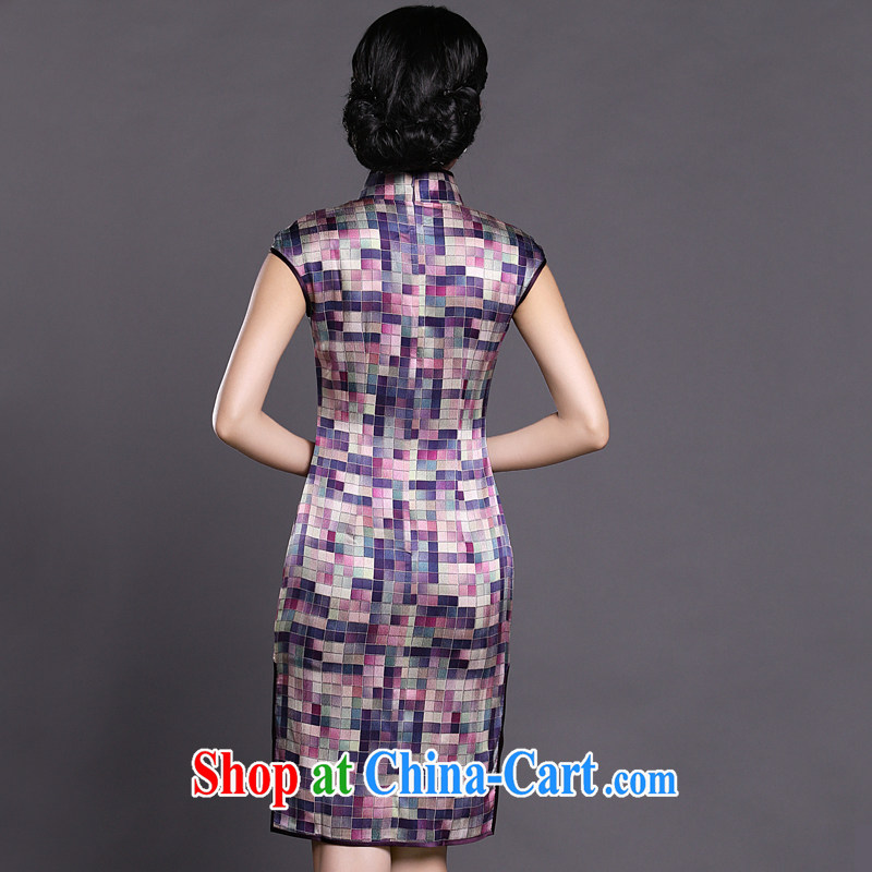 Joe is still name-yuan silk improved cheongsam dress summer aura China wind ZS 021 purple XXL, CHOSHAN LADIES, shopping on the Internet