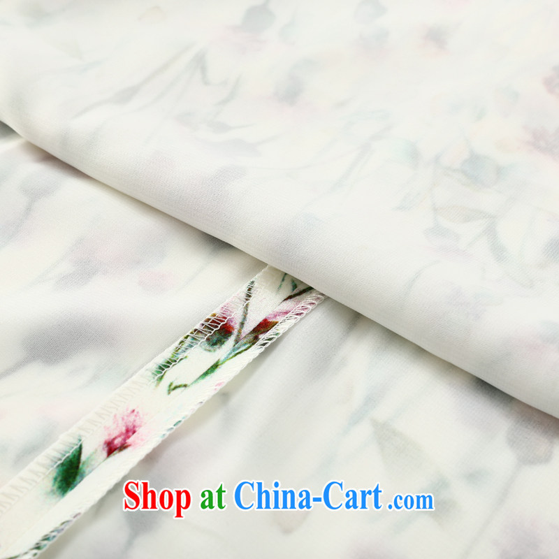 Joe is still a ritual heavy silk, long robes, daily improvement of Korea, female ZS 022 white XXL, CHOSHAN LADIES, shopping on the Internet