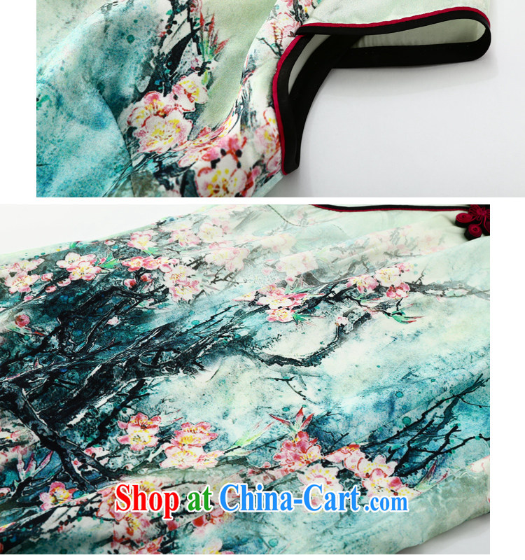 Joe is still name-yuan National wind cheongsam dress silk summer improved Tang replace ZS 023 fancy XXL pictures, price, brand platters! Elections are good character, the national distribution, so why buy now enjoy more preferential! Health