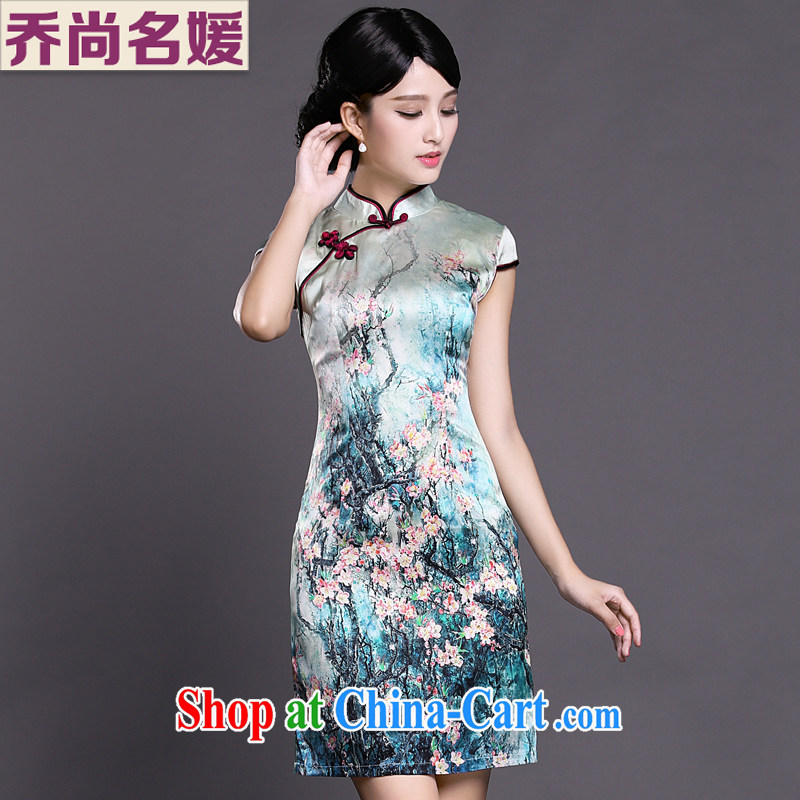 Joe is still name-yuan National wind cheongsam dress silk summer improved Tang replace ZS 023 fancy XXL