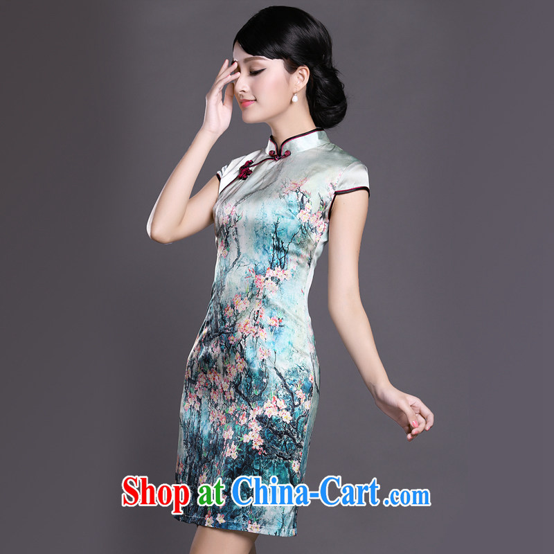 Joe is still name-yuan National wind cheongsam dress silk summer improved Tang replace ZS 023 XXL suit, CHOSHAN LADIES, shopping on the Internet