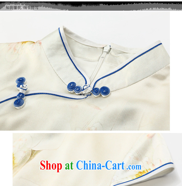 Joe is still name-yuan summer new short-sleeved improved cheongsam dress silk ethnic wind ZS 024 white XXL pictures, price, brand platters! Elections are good character, the national distribution, so why buy now enjoy more preferential! Health