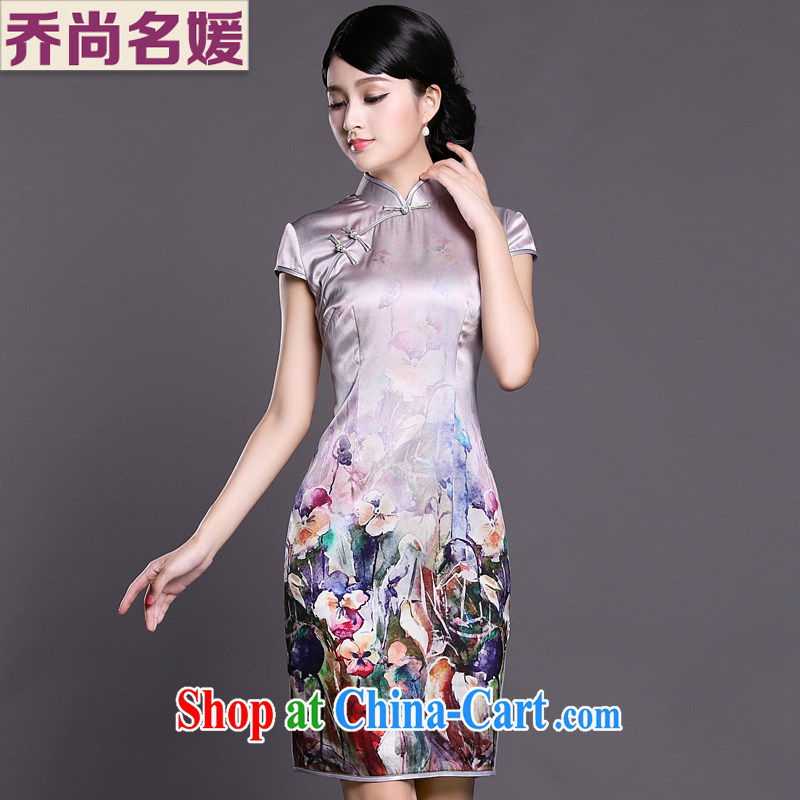 Joe is still a high-heavy Silk Cheongsam dress summer China wind female ZS 026 fancy XXL