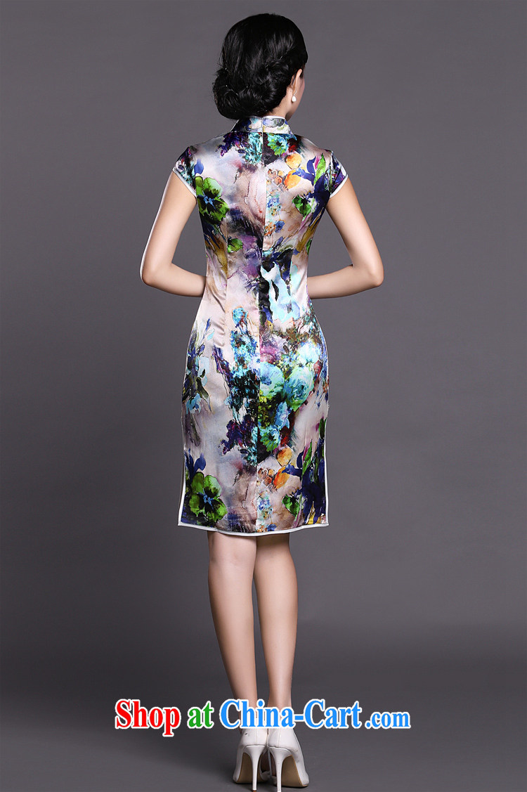 Joe is still a ritual summer new short-sleeved improved cheongsam skirt silk ZS 027 fancy XXL pictures, price, brand platters! Elections are good character, the national distribution, so why buy now enjoy more preferential! Health