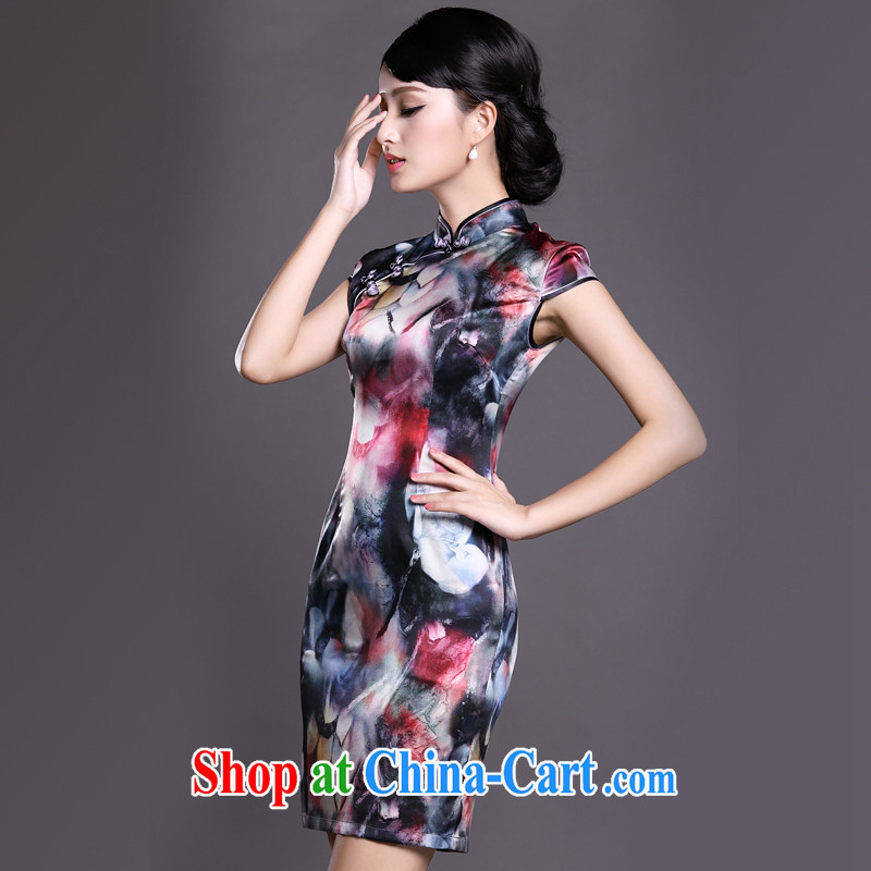 Joe is a summer ritual cheongsam dress silk Ethnic Wind Ms. ZS load 028 XXL suit, CHOSHAN LADIES, shopping on the Internet