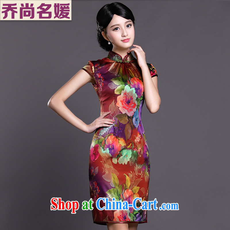 Joe is still name-yuan improved cheongsam dress silk Tang Women's clothes 039 ZS XXL suit