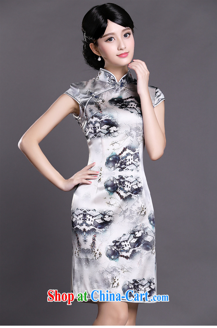 Joe is still name-yuan style Silk Cheongsam dress summer retro ethnic wind ZS 041 white XXL pictures, price, brand platters! Elections are good character, the national distribution, so why buy now enjoy more preferential! Health