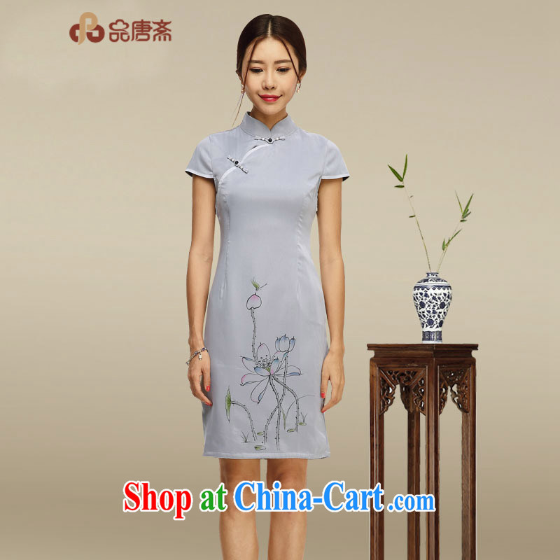For Tang Id al-Fitr 2015 summer new, improved package and cheongsam dress Art Nouveau female cheongsam dress picture color XL