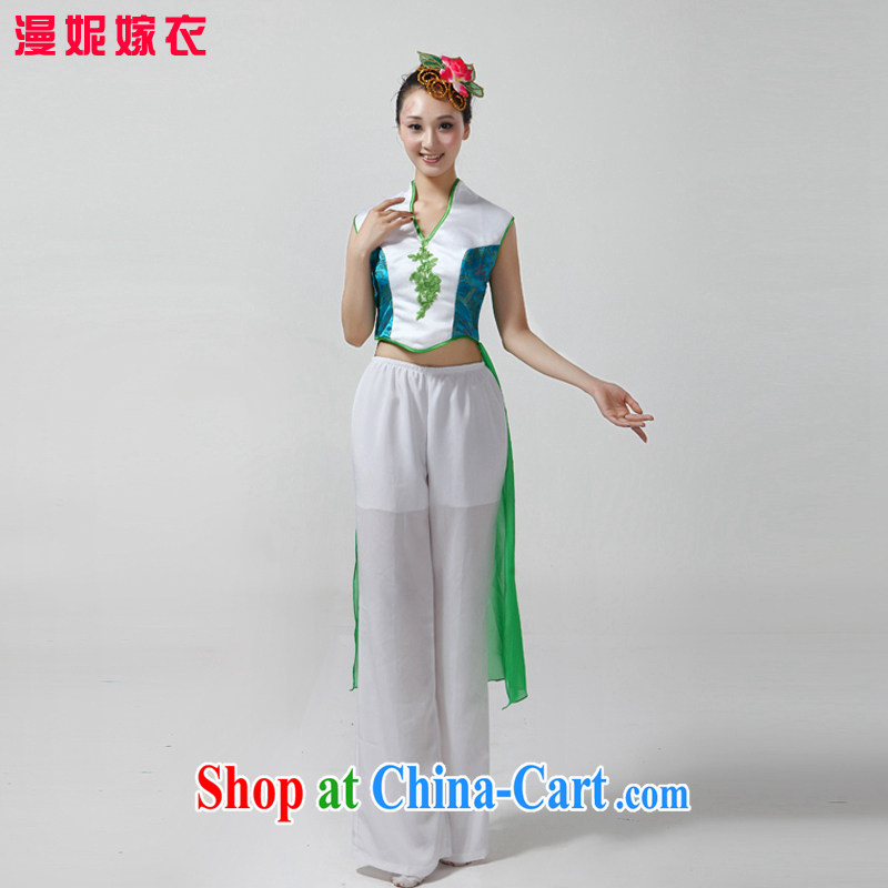 2015 new middle-aged and elderly yangko clothing Fan Dance clothing classical dance clothing female dance clothing dance clothing show clothing retro classical dancers dancing with color pictures XS