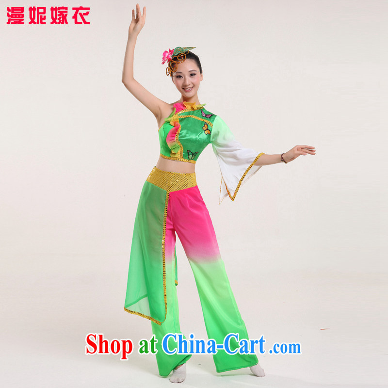 Yangge service 2015 new spring yangko performances serving serving modern dance clothing long sleeved shirts ethnic dance clothing ethnic modern square dance clothing picture color XS