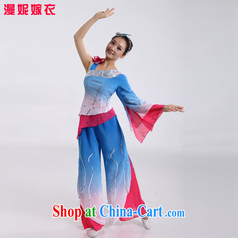 2015 new, older seedlings and dance classical dance fans dance clothes dance clothes dance costumes Janggu clothing _ Dance clothing female classical dance theater service red XS