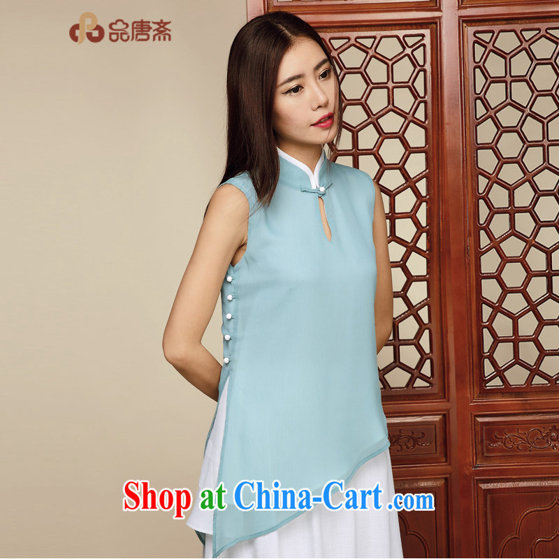Mr Henry Tang, Id al-Fitr original China wind, improved short-sleeved Chinese cheongsam shirt summer New breathable dresses girls picture color M