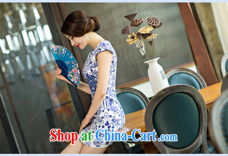 Colorful nickname Julia 2015 new women pack and dresses skirts short, improved stylish blue and white porcelain dress blue and white porcelain XXL pictures, price, brand platters! Elections are good character, the national distribution, so why buy now enjoy more preferential! Health