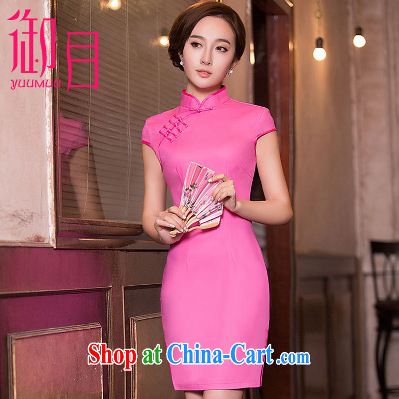 Imperial Palace, improved cheongsam dress Solid Color short of red bridesmaid toast serving serving dinner dress dresses of red xxl