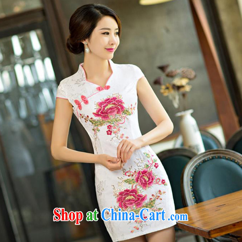 The Greek Diana, 2015 daily qipao dresses short dresses summer improved the Code women serving toast saffron XXL