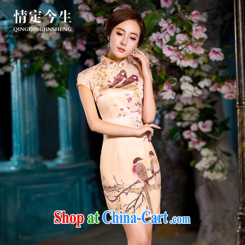 Love Life, for retro 2015 summer new, stylish flower cultivation video thin package and cheongsam picture color XL