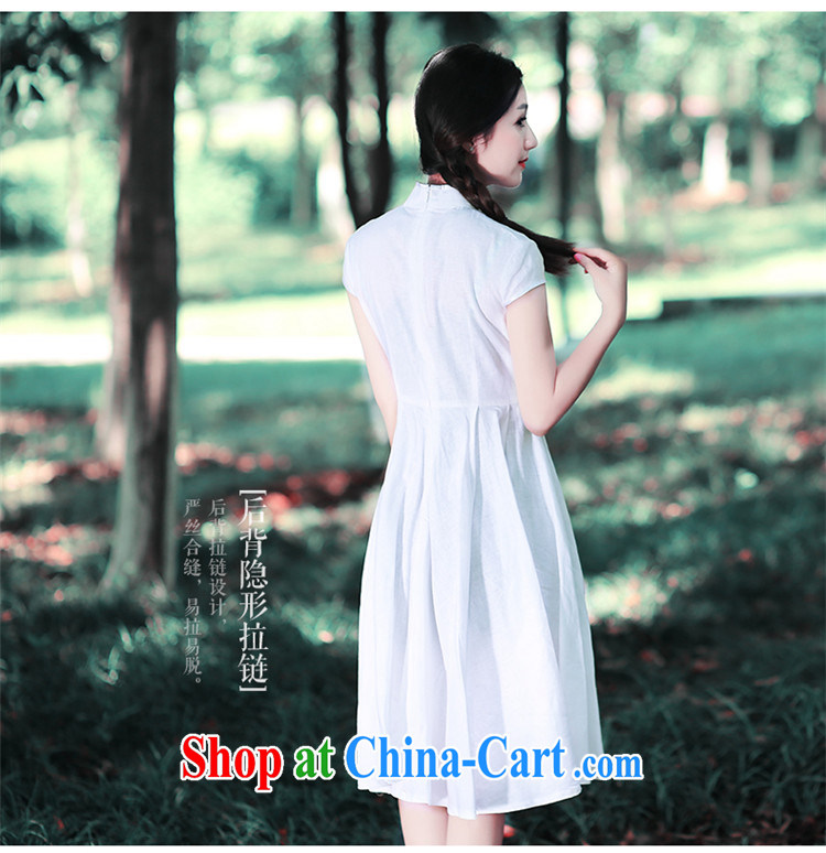 Ruyi wind 2015 retro art, summer, for Dress ethnic wind women's dresses wind 5410 5410 white XXL pictures, price, brand platters! Elections are good character, the national distribution, so why buy now enjoy more preferential! Health