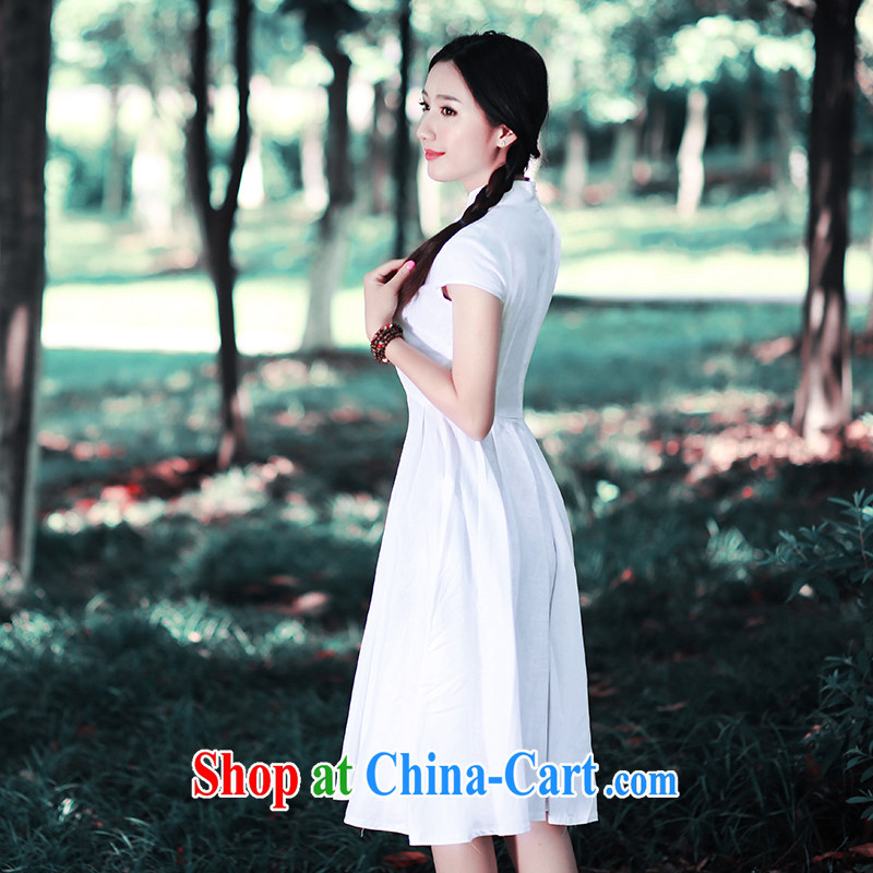 Ruyi wind 2015 retro art, summer, for Dress ethnic wind women's clothing China wind outfit 5410 5410 white XXL sporting, wind, shopping on the Internet