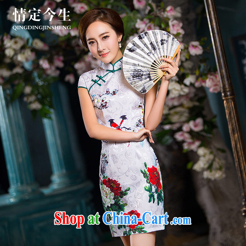 Love Life retro, a field for 2015 summer new bird stamp beauty graphics thin daily outfit pictures color XXL