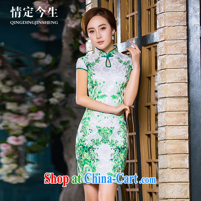 Love Of The temporal retro elegant 2015 summer new literary field for water droplets for stamp duty cultivating cheongsam picture color XXL