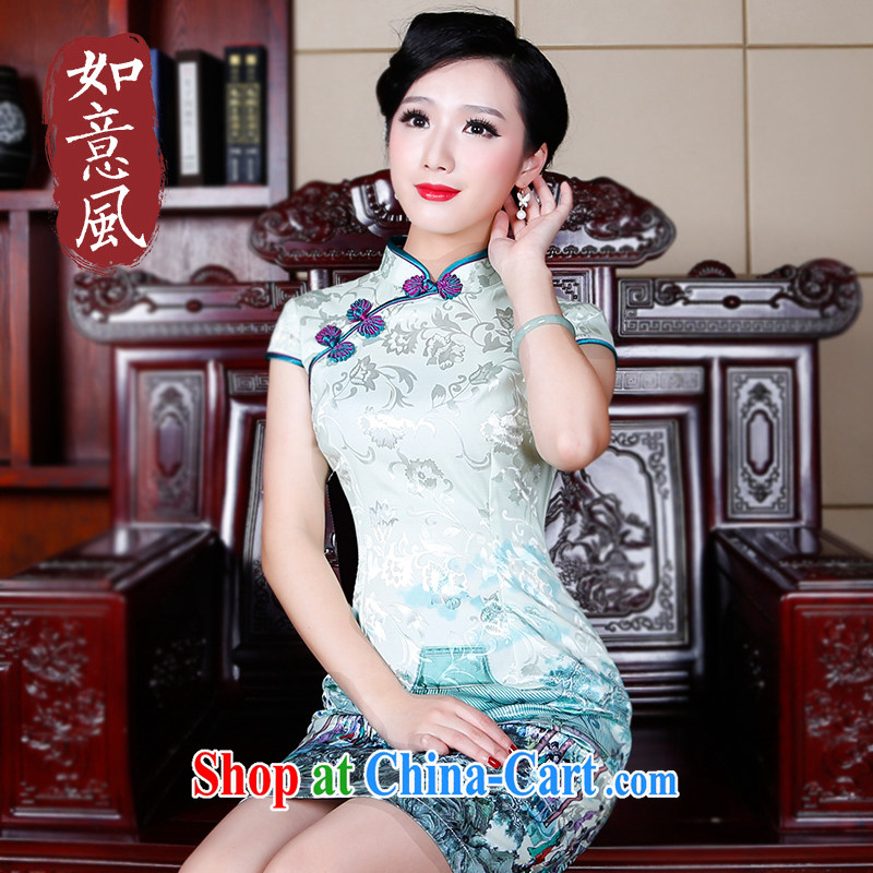 Wind turbine sporting cheongsam dress improved modern day Chinese Dress style stylish and elegant Chinese qipao 5234 5234 fancy XXL