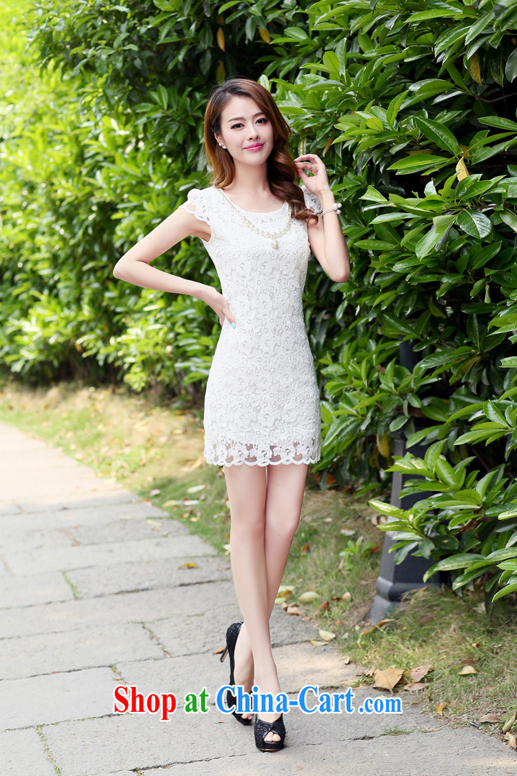 Kam Ming Yin Yue 7 new women small fragrant wind graphics thin Chinese qipao lace dress short-sleeved summer Korean fashion style beauty package and light blue XXL pictures, price, brand platters! Elections are good character, the national distribution, so why buy now enjoy more preferential! Health