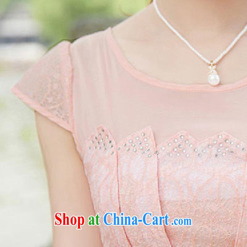 Kam-ming Yin Yue 7 summer new hook spent cultivating graphics thin solid color style, Chinese cheongsam lace short-sleeved dresses summer yellow L, Kam-ming Yin Yue 7, online shopping