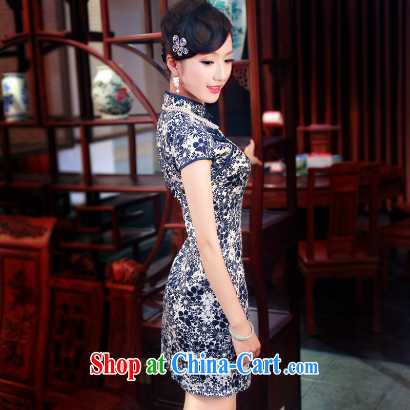 Unwind after the 2014 female new stylish improved cheongsam porcelain was daily cultivating cotton robes 0150 new 0150 fancy XXL sporting, wind, shopping on the Internet