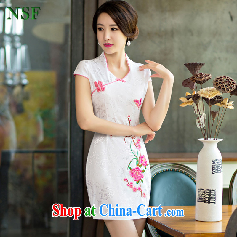 NSF summer 2015 new female summer improved cheongsam dress retro beauty daily short cheongsam Chinese dresses red XXL