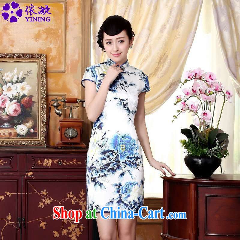 According to fuser stylish new ladies retro Ethnic Wind improved qipao, for a tight beauty short Chinese qipao dress LGD_Z _0025 figure 2 XL
