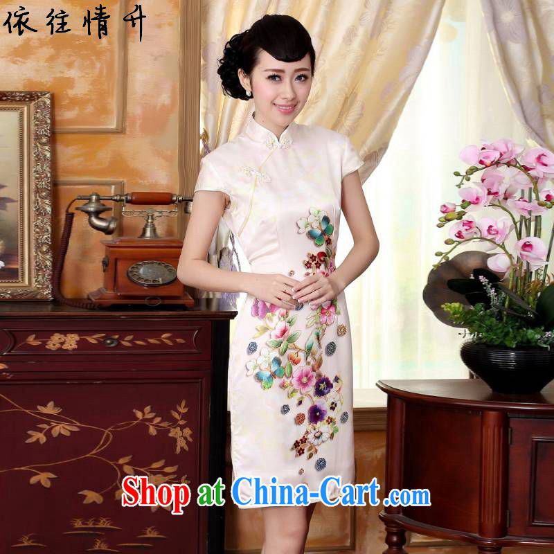 According to the conditions in summer and stylish new ladies retro improved Chinese, for a tight cultivating short-sleeved Chinese cheongsam dress LGD_Z _0024 figure 2 XL