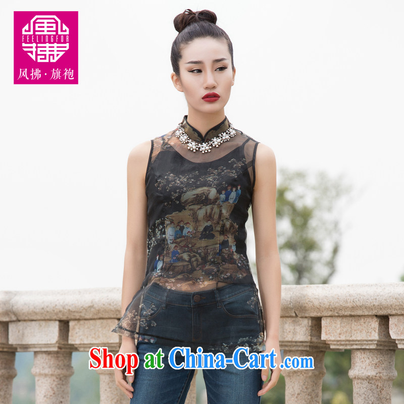 Wind Blowing summer 2015 new female Chinese style improved the root by a sleeveless XXL