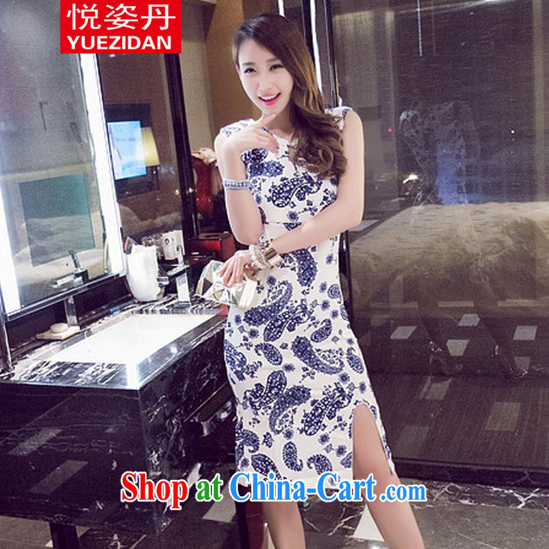 Yue Chi Dan 2015 new European and American-style retro stamp duty cultivating the forklift truck-cheongsam dress suit L