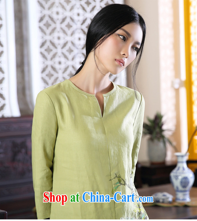 Ink meticulous cuckoo original design arts and cultural, ethnic wind cotton the Girls fall on China wind Chinese large, female Green XXL pictures, price, brand platters! Elections are good character, the national distribution, so why buy now enjoy more preferential! Health