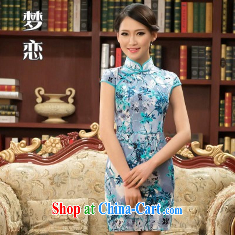 retro style improved national wind everyday dresses girls summer Dinner Show dresses short dresses appointments M XXL need do not support RMA