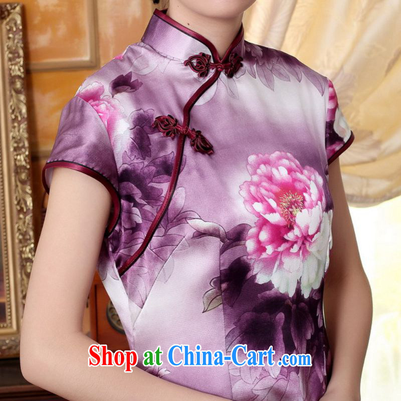 According to fuser summer stylish new ladies retro ethnic wind Tang on the collar is tight poster cultivating short-sleeved Chinese cheongsam dress LGD/Z #0023聽figure 2 XL, fuser, and shopping on the Internet