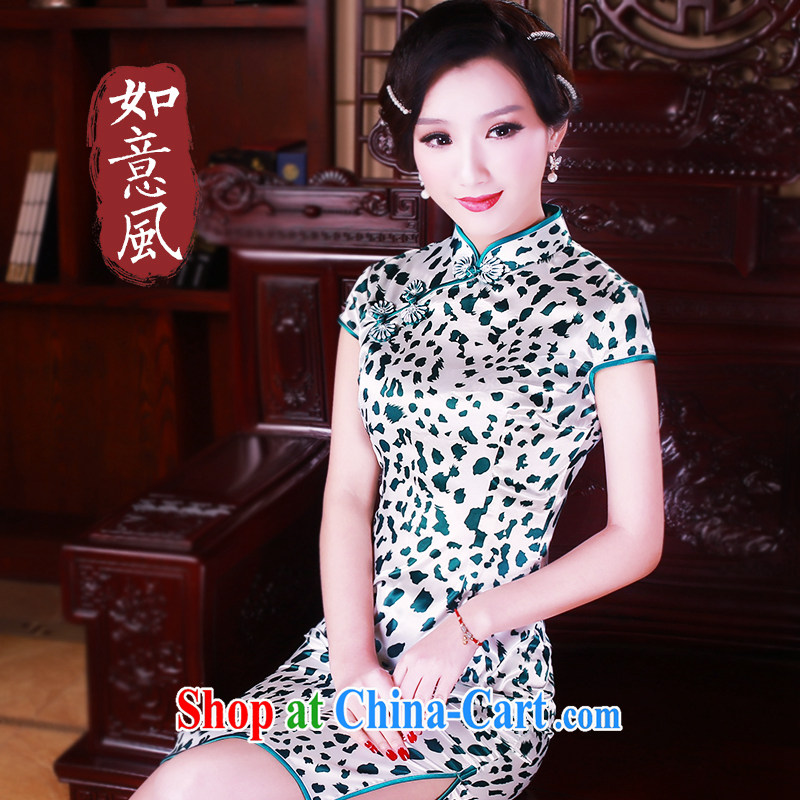 Ruyi wind spring 2015 new dresses retro dresses skirts toast clothing, dresses 5099 new 5099 fancy XXL