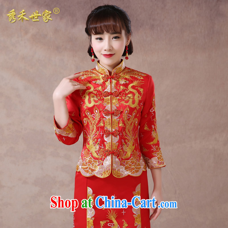 Use Phoenix dress of Chinese Dress bridal toast serving long summer dresses retro married Yi hi service 2015 New A XS, No.