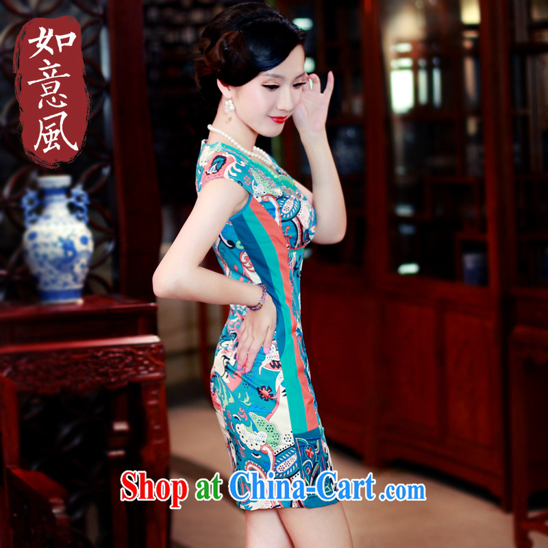 ruyi, 2015 new spring and summer girls improved stylish everyday upscale retro style cheongsam dress 4274 new 4274 fancy XXL
