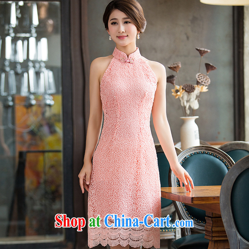 Non-you don't marry 2015 summer new improved stylish short cheongsam dress lace daily dresses toast clothing picture color 2 XL