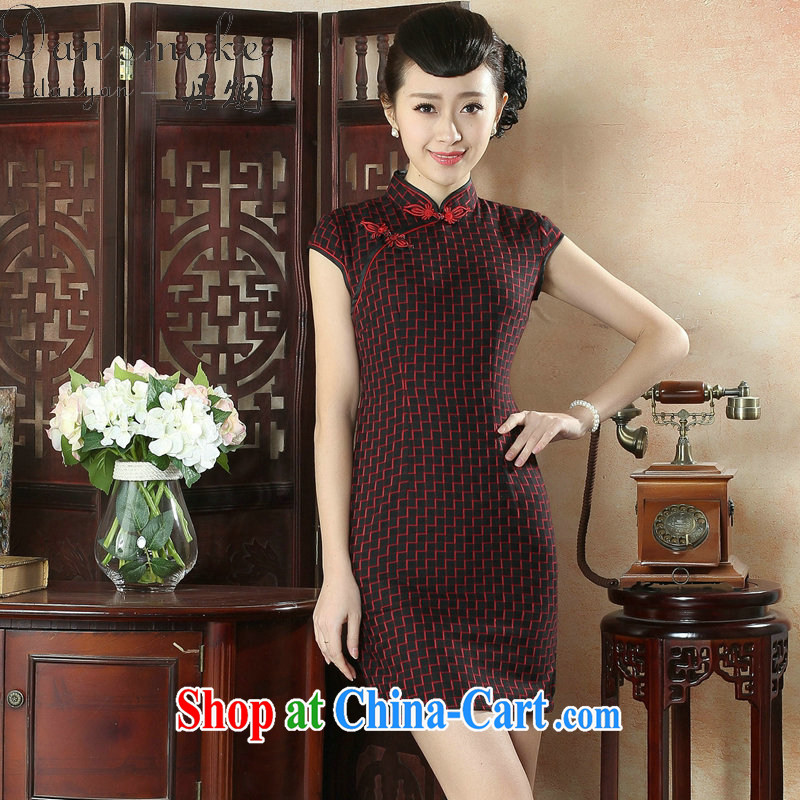 Bin Laden smoke-free new summer dress cheongsam Chinese improved, for a tight wind of small arts short cheongsam dress such as the color 2 XL