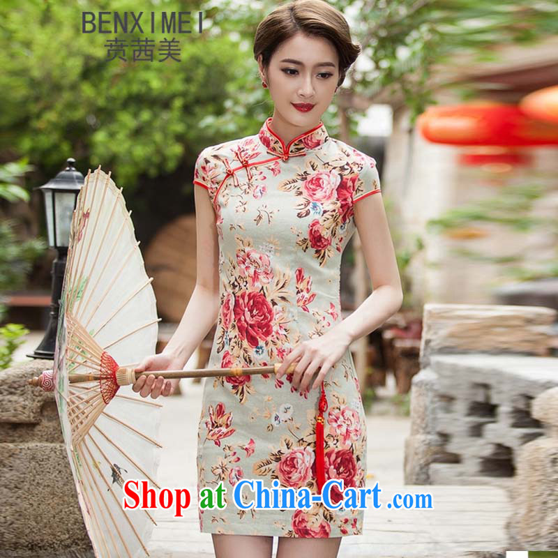 Ben Stiller sin the US spring and summer new, elegant qipao beauty daily improved stylish dresses dress suits 1108 XXL