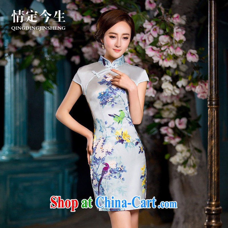 Love Life retro-tie 2015 summer New Beauty video thin stamp elegant lady package and robes picture color XXL