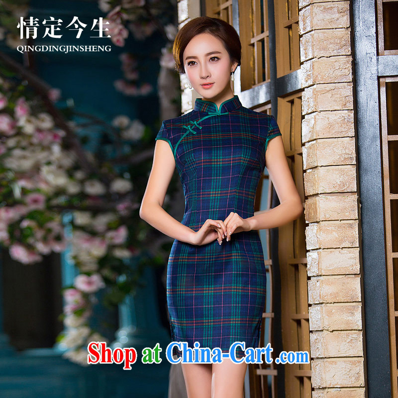 Love Life, for retro 2015 summer New Beauty video thin 1000 birds of the literary female cheongsam picture color XXL