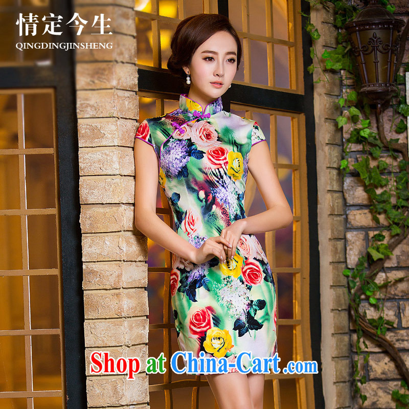 Love Life retro stamp 2015 summer New Beauty video thin, for the forklift truck daily improvement package and cheongsam picture color XXL